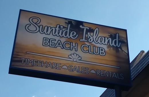 Suntide Island Beach Club Sign